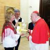 Kardinalu so pustili podobo Višarske Matere Božje za papeža Frančiška/Al cardinale è stata lasciata un'immagine della Madonna di Lussari con la richiesta di farla avere a Papa Francesco