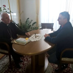 Walter Bandelj pri nadškofu Zoretu_<em>Bandelj dall'arcivescovo di Lubiana</em>