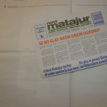 Novi Matajur z belimi stranmi_<em>Il Novi Matajur in bianco</em>